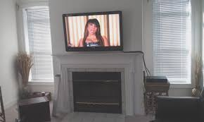 fireplace fresh flat screen tv mounted over fireplace home