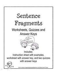 sentence fragments to complete sentences sentence fragments
