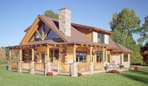 log home deck plans rear of log home with stain on deck railing