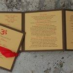 tri fold program diy tri fold wedding program new york city nyc tri fold program