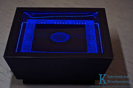Coffee Tables With Led Lights Led Light Up Coffee Table K International Woodworking