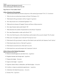 name study guide for benchmark exam 3 civics u0026 economics
