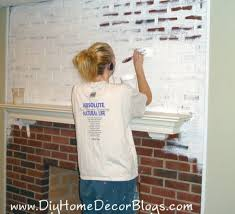 How To Whitewash Interior Brick Painting Brick Fireplaces How To