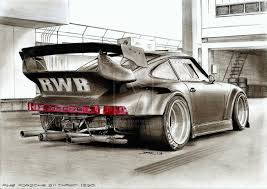 porsche widebody rear porsche rwb sketch speedobsession pinterest sketches cars