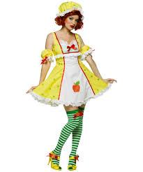 Strawberry Shortcake Halloween Costume Apple Dumpling Costume Women Apple Costumes