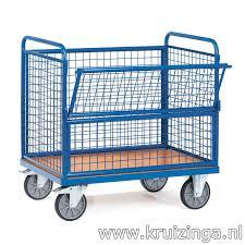 box cart box carts warehouse trolley wire mesh wall trolley flap at 1 long