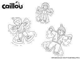 caillou u0027s snow fun u2013 coloring sheet caillou activities