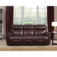 Reclining Sofas Leather Sanford Leather Power Sofa Recliner With Power Headrests And Usb