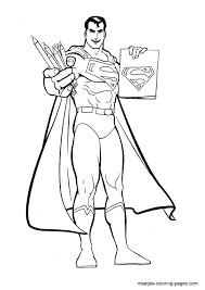 superman coloring superhero coloring pages