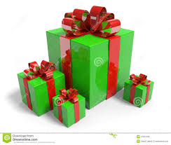 christmas present boxes christmas presents in gift boxes with shiny green wrapping paper