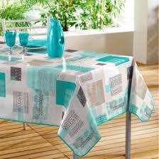 nappe cuisine plastique nappe ronde ou rectangulaire serviette et chemin de table
