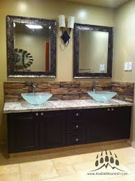 Bathroom Sink Backsplash Ideas by Bathroom Back Splash Kodiak Mountain Stone Frontier Ledge