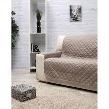 protège canapé protège canapé 2 places taupe uni dessus de chaise jeté de