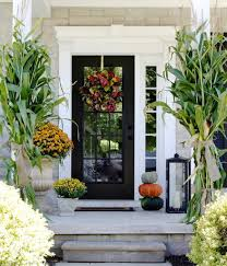home entryway decor decorate porch fall popsugar home hassle free deck decorating