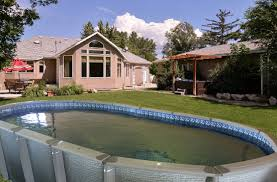Backyard Above Ground Pools by Antigua Above Ground Swimming Pool Above Ground Pools Backyard
