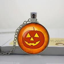 halloween pumpkin necklace halloween pumpkin pendant halloween