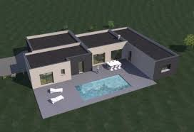 plan maison moderne 4 chambres construction 86 fr plan maison contemporaine de plain pied 157 m