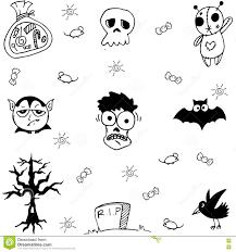 element ghost halloween in doodle stock vector image 73019000