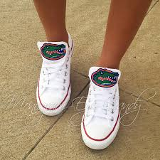 customized converse sneakers florida gators edition collegiate