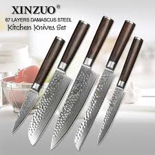 japanese kitchen knives set 5 pcs kitchen knives set japanese vg10 damascus steel kitchen