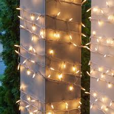 how to wrap christmas lights around a tree christmas net lights 6 w x 15 h column wrap 150 white frost