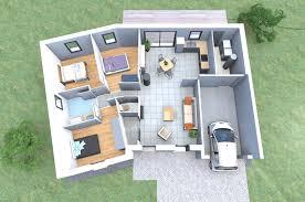 plan maison 3 chambre plan 3d d 39 une maison en v de plain pied avec 3 chambres of plan