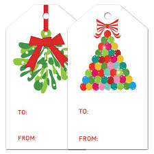 gift tag set ornaments and mistletoe emilymccarthy