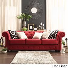 Linen Tufted Sofa by Sofas Overstock Sofa With Perfect Balance Between Comfort And