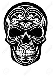 tribal skull design royalty free cliparts vectors and