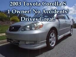 price of toyota corolla 2003 2003 toyota corolla s for sale
