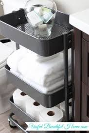 Rolling Bathroom Cart Rolling Cart For Storage Works Well In Small Bathrooms Ikea