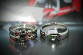 harley quinn wedding dress harley quinn and joker rings black cz and garnet cz