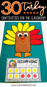 free thanksgiving crafts for kids 30 turkey crafts and activities for the classroom one sharp bunch