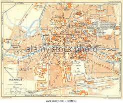 rennes map map rennes stock photos map rennes stock images