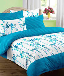 Buy Cheap Double Bed Sheets Online India Raymond Revival Double Bed Sheet With 2 Pillow Covers Blue Buy