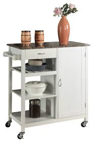wood and marble finish top kitchen storage cabinet cart black