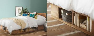 Platform Bed With Storage Underneath Adorable Platform Bed With Storage Underneath With Bed Frames Ikea