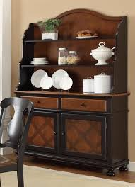 Hutch And Buffet by Connor Buffet U0026 Hutch In Two Tone Tobacco And Black Finish By
