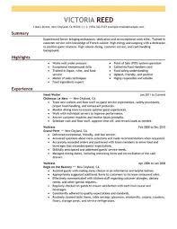 food service resume template server resume template cv resume