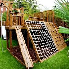 backyard landscaping ideas for kids with sport area kids