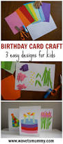how to 3 easy birthday card crafts to do with toddlers wave to