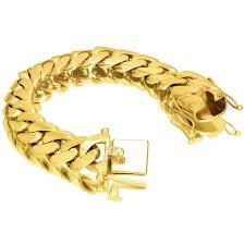 box bracelet clasps images Vermeil miami cuban link bracelet with box clasp 18mm jpg