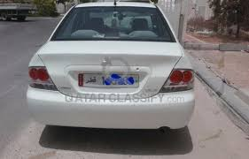 mitsubishi lancer 2008 glx car sedan old airport doha
