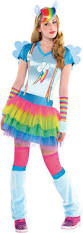 Scary Halloween Costumes Teenage Girls Teen Girls Rainbow Dash Costume Pony Party