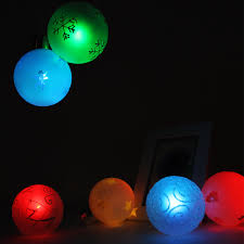 set of 6 battery operated led christmas hanging ball torchstar