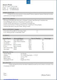 Best Resume For Freshers by Resume Blog Co Excellent Resume Sample In One Page Of Ca Cs Cma