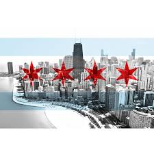 Chicagos Flag Chicago Flag Skyline Black U0026 White U2013 Zapwalls
