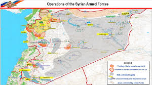 Map Of Syria And Russia Russian Aerospace Forces In Syria Increased Strike Intensity In