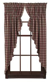 Primitive Kitchen Curtains Country Sler Curtains New Primitive Country Burgundy Green