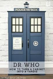 Dr Who Tardis Bookshelf How To Turn A Cabinet Into A Dr Who Tardis U2022 Grillo Designs